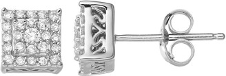 Vera Wang Simply Vera Sterling Silver 1/4 Carat T.W. Diamond Square Stud Earrings