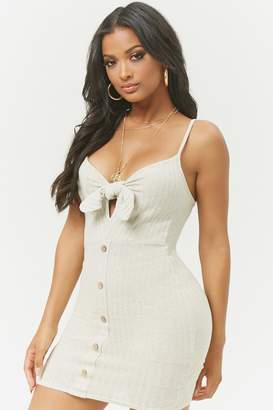 Forever 21 Ribbed Tie-Front Mini Dress