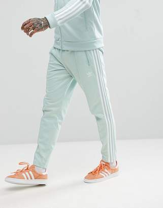 adidas adicolor Beckenbauer Joggers In Skinny Fit In Blue CW1272