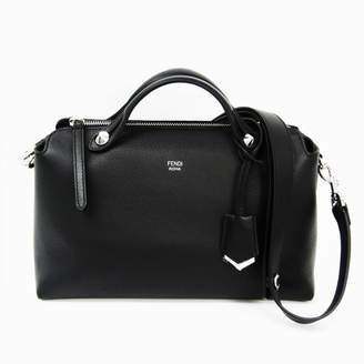 Fendi Black Calfskin Satchel By The Way Bag (SHA-12036)