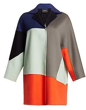 Akris Women's Cashmere Patchwork Coat