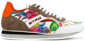 Etro colour-block floral sneakers