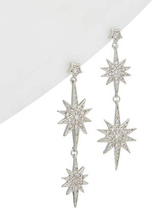 Betsey Johnson Betsey Blue by Betsey Blue Launch Double Drop Earrings