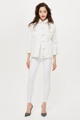 Topshop PETITE White Joni Jeans