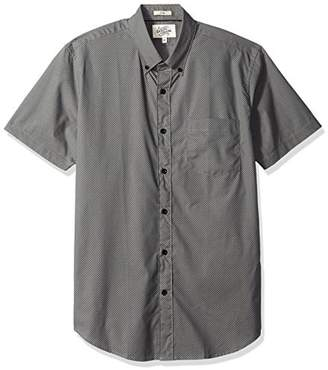 Casual Terrains Men's Tailored Slim-Fit Short-Sleeve Button-Down Shirt with Pocket .