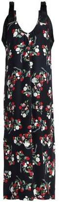 Mother of Pearl Floral-Print Silk Satin-Crepe Midi Dress