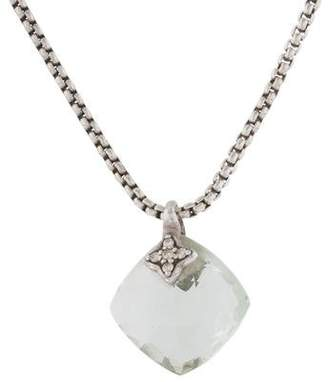 David Yurman Prasiolite & Diamond On Point Pendant Necklace