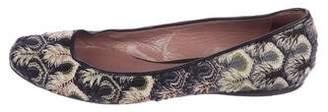Missoni Woven Round-Toe Flats