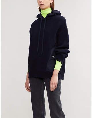 Closed x Girbaud distressed wool hoody