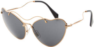 Miu Miu OMU 55R Gold-Tone Cat Eye Sunglasses