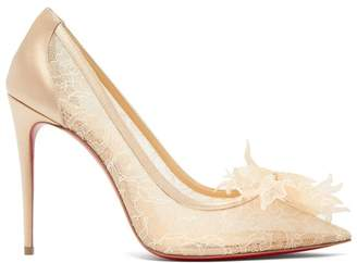 Christian Louboutin Delicatissima 100 Lace Pumps - Womens - Nude