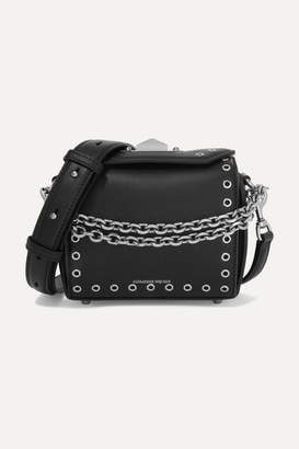 Alexander McQueen Box Bag 19 Embellished Leather Shoulder Bag - Black