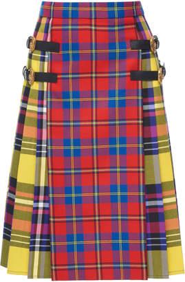 Versace Tartan Midi Skirt