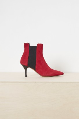 Jo-Jo French Connenction Jojo Suede Chelsea Pointy Boots