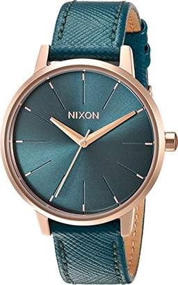 Nixon Women's 'Kensington' Quartz Metal and Leather Watch