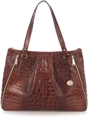 Brahmin Melbourne - Adina Croc Embossed Leather Satchel
