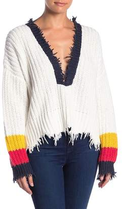 Wildfox Couture Deep V-Neck Knit Pullover