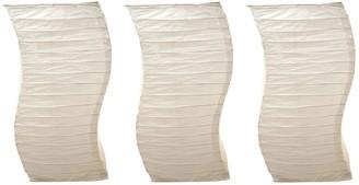 Lumabase Luminarias LumaBase Luminarias 3-Piece White Twisted Paper Lanterns