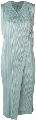 Pleats Please Issey Miyake pleated wrap dress