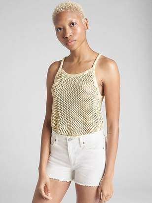 Gap Metallic Crochet Tank Top