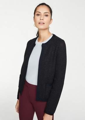 Ann Taylor Shimmer Pocket Sweater Jacket