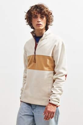 Urban Outfitters Colorblock Quarter-Zip Mock Neck Sweatshirt