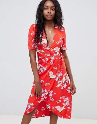 Glamorous midi wrap dress