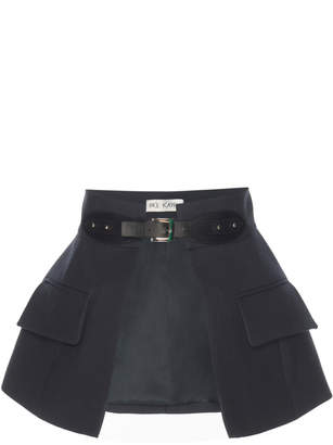 Dice Kayek Navy Belt Skirt