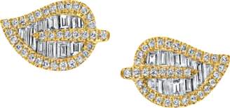 Anita Ko Diamond Leaf Stud Earrings