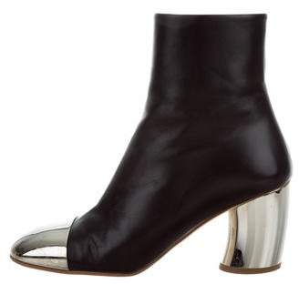 Proenza Schouler 2017 Leather Cap-Toe Ankle Boots