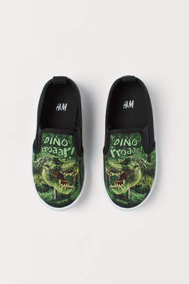 H&M Slip-on printed trainers