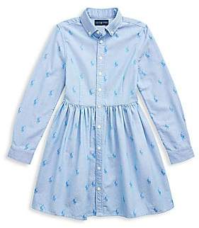 f9f3f0d4ce Little Girl's & Girl's Pony Chambray Shirtdress