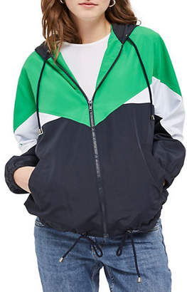 Topshop MATERNITY Abbie Colourblock Windbreaker Jacket