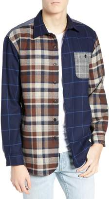 Pendleton Pattern Block Wool Sport Shirt