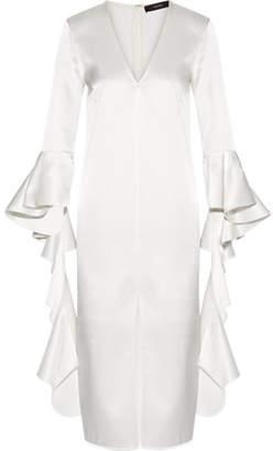 Ellery Ruffled Satin-crepe Dress
