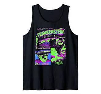 Frankenstein Colorful Collage - Vintage Horror Movie Shirt Tank Top