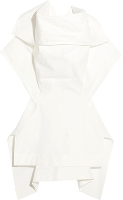 Rick Owens - Judith Stretch-cotton Poplin Top - White $735 thestylecure.com
