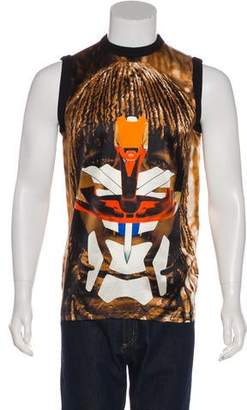 Givenchy 2014 Silk Graphic Tank Top