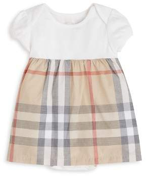 Burberry Girls' Cherry Short Sleeve Checked Dress - Baby