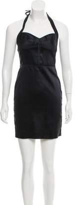 Zac Posen Z Spoke by Halter Mini Dress