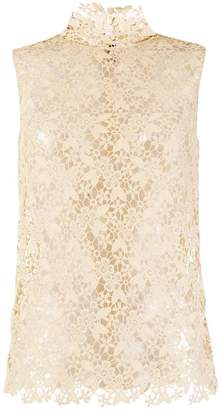 Joseph silk lace tank top