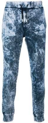 Diesel Black Gold marble-bleached jogging pants