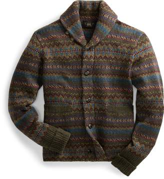 Ralph Lauren Fair Isle Wool-Blend Cardigan