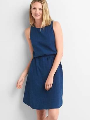Gap Denim dobby sleeveless dress