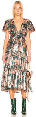 Johanna Ortiz Modern Day Muse Dress in Chestnut & Garden Jade Sequin | FWRD