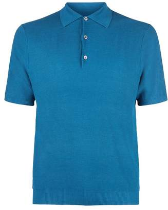 Dunhill Silk Knitted Polo Shirt