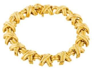 Tiffany & Co. 18K Signature X Link Bracelet