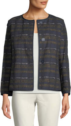 Lafayette 148 New York Keegan Plaid Snap-Front Jacket