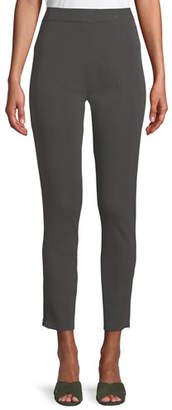 Misook Knit Ankle-Zip Legging Pants, Petite