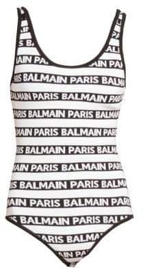 Balmain Paris Striped Bodysuit